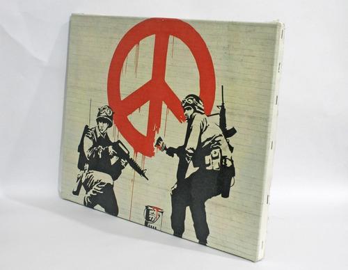 quadro  banksy em tela de pintura 30x40cm