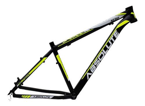quadro bike 29 mtb nero absolute alumínio (15,17,19,21 e 23)
