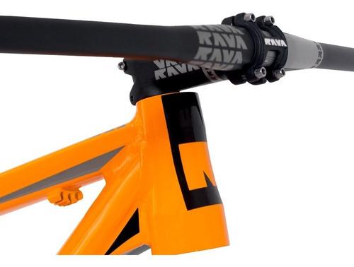 quadro bike rava cave mtb 15.5; 17; 19 laranja e preto