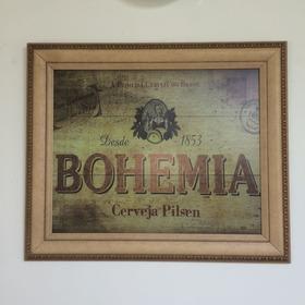 Quadro Bohemia 53x63 Moldura De Qualidade Madeira Tratada