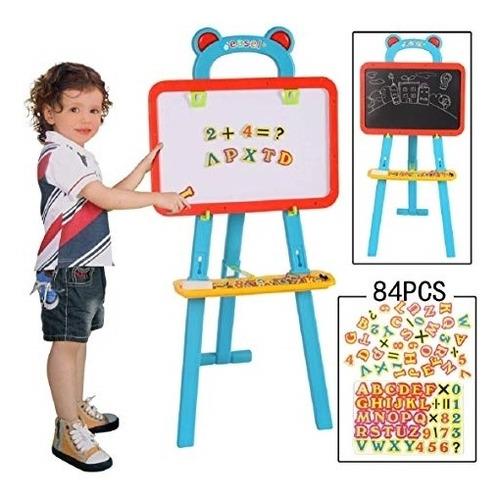 quadro branco magnetico e lousa infantil 84 peças kit 3 em 1