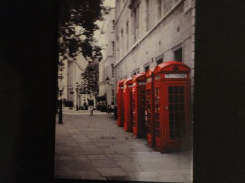 quadro cabine telefonica vermelha londres inglaterra big ben