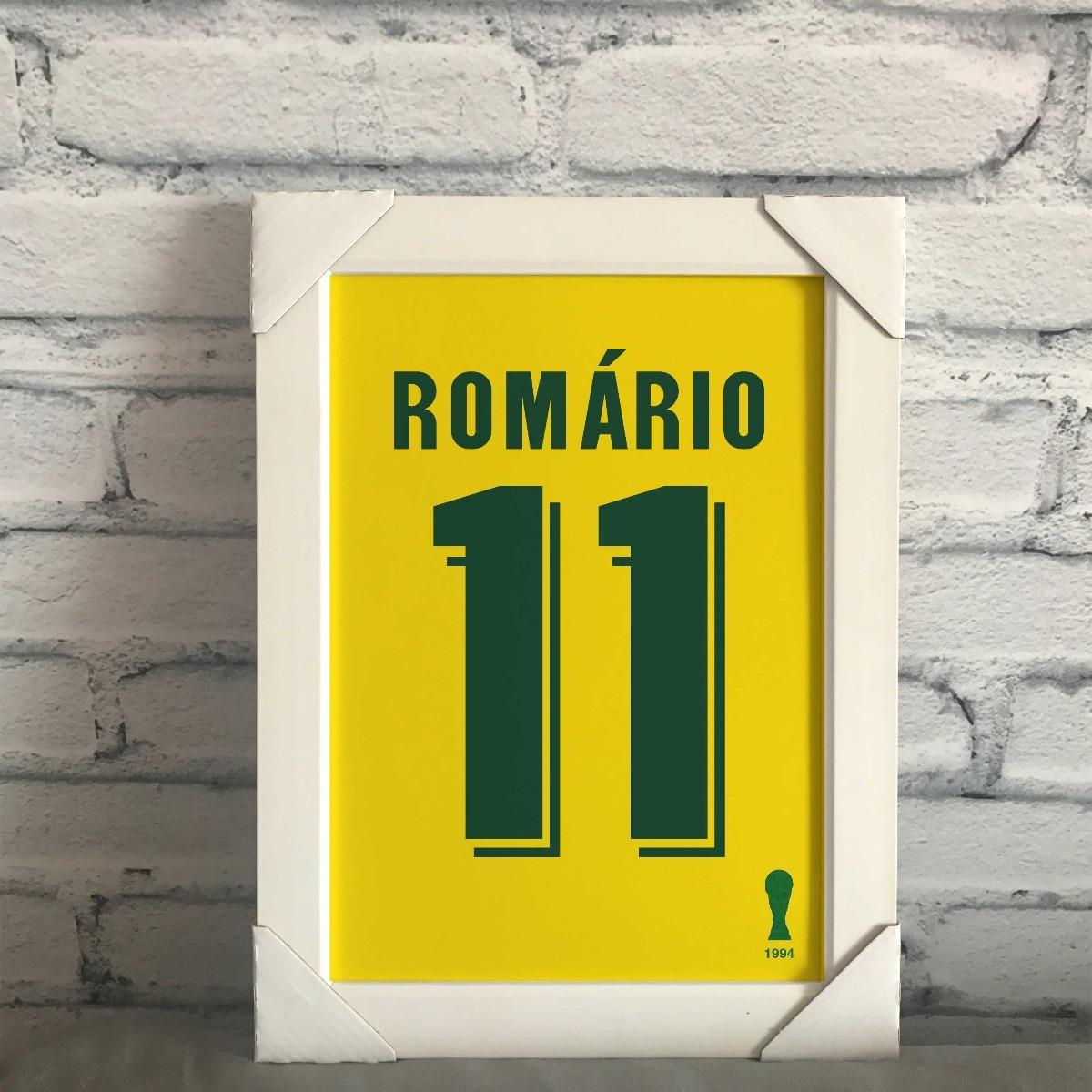 6e5db6f4a quadro camisa seleção brasileira copa 94 romário. Carregando zoom.