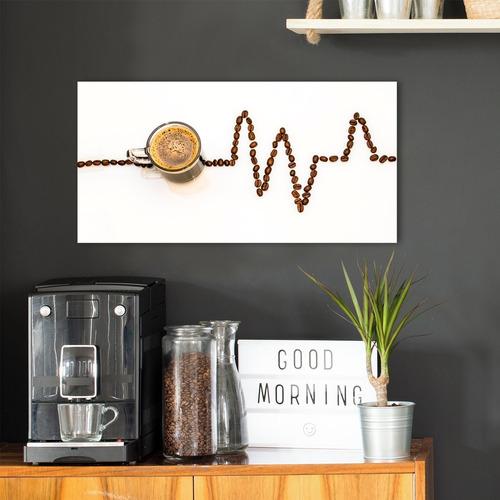 quadro cantinho do café decorativo retangular sem furação