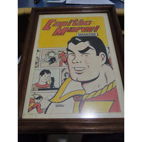 Quadro Capitão Marvel Magazine 1965 Feito A Mão - Esboço Rge