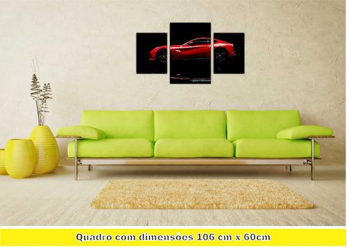 78c326f199 Quadro Carro Ferrari Súper Máquinas Decoração Interiores 01 - R$ 293 ...