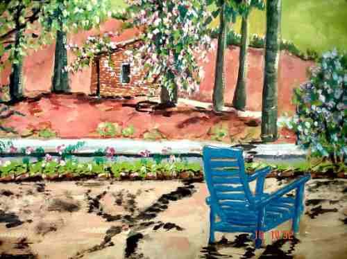 quadro cena rural - osm - 25x35cm - datado de 1973