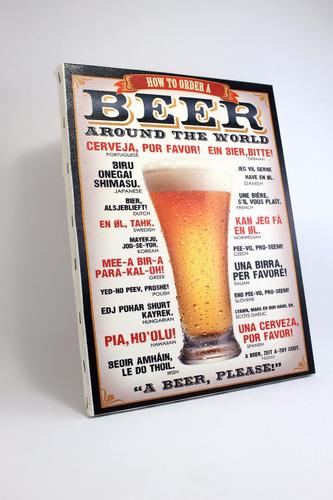 quadro cerveja  impressão em canvas
