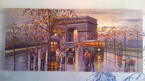 quadro chuva paris por encomenda cod 03