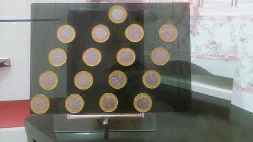 quadro completo com moedas das olimpíadas....