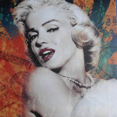 quadro da marilyn monroe  impresso em lona naylon 30x30cm