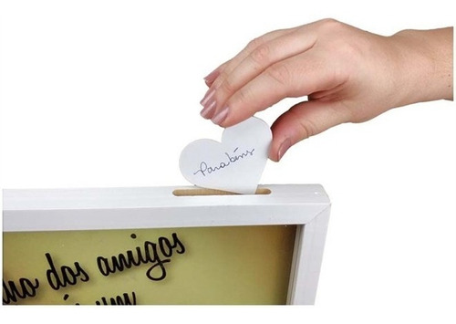 quadro de assinatura para casamento cofre de recadinho festa