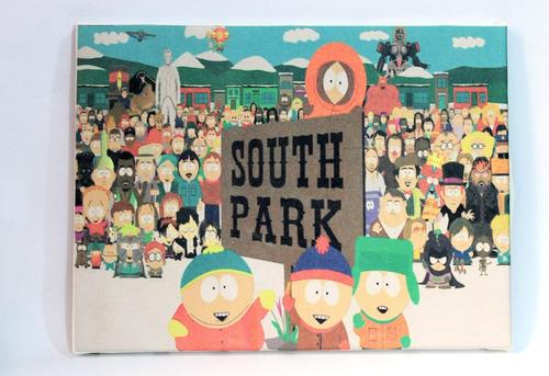 quadro de impressão em canvas south park