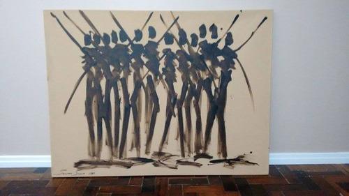 quadro de parede jorge santo silva 1,20m x 0,90m