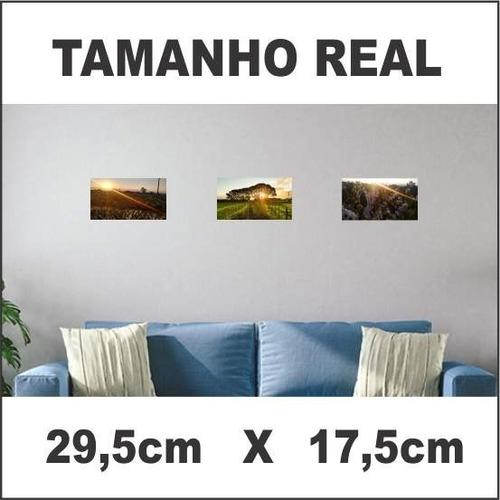 quadro decoração de parede 29,5cm x 17,5cm paisagem, carros