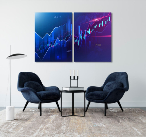 quadro decoração investidor trader gráfico forex bmf mdf 6mm