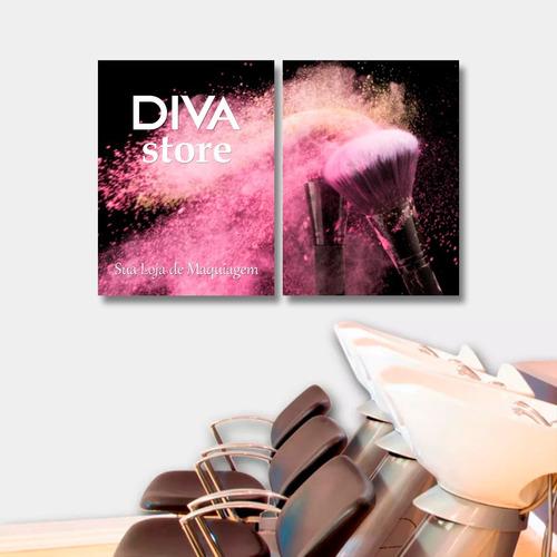quadro decoração salão make maquiagem personalizado g 6mm