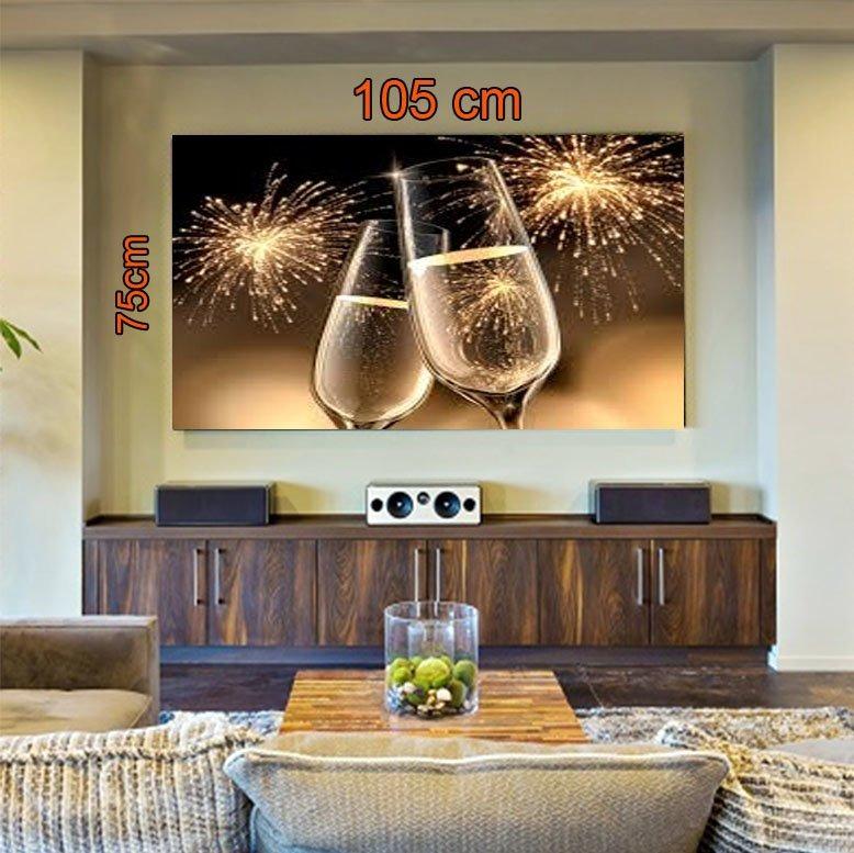2e025734d Quadro Decorativo 105cmx75cm Champagne (comprar Online) - R  596
