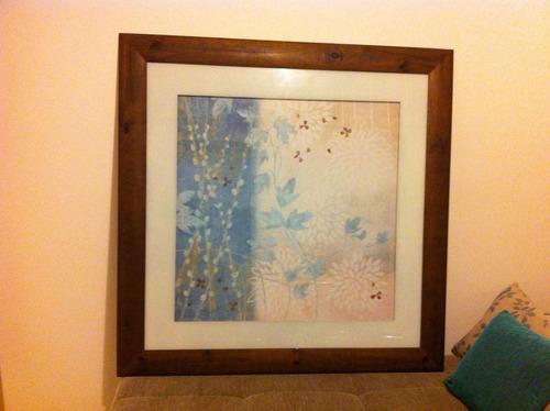 quadro decorativo 1.18 comprimento. x 1.15 altura com vidro