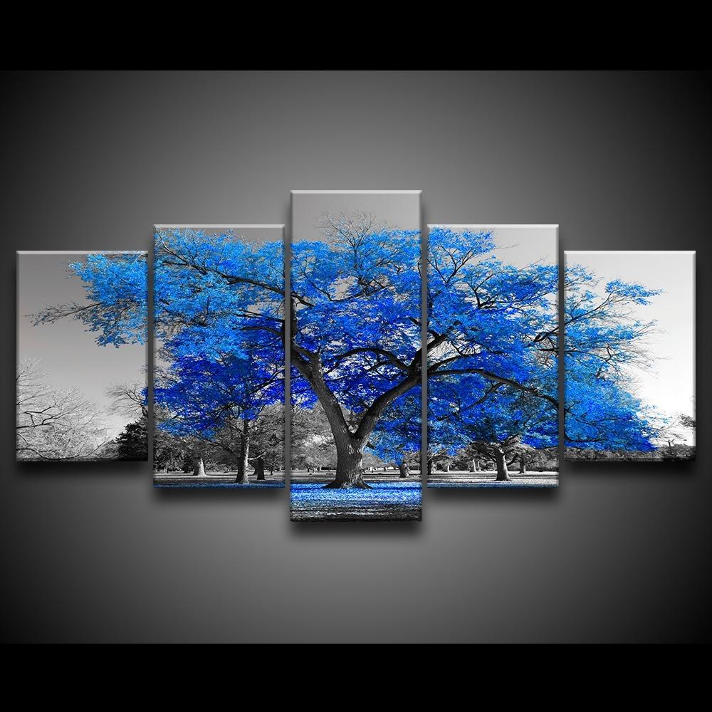 c5050ff317b61 quadro decorativo 129x63 sala quarto árvore grande cores. Carregando zoom.