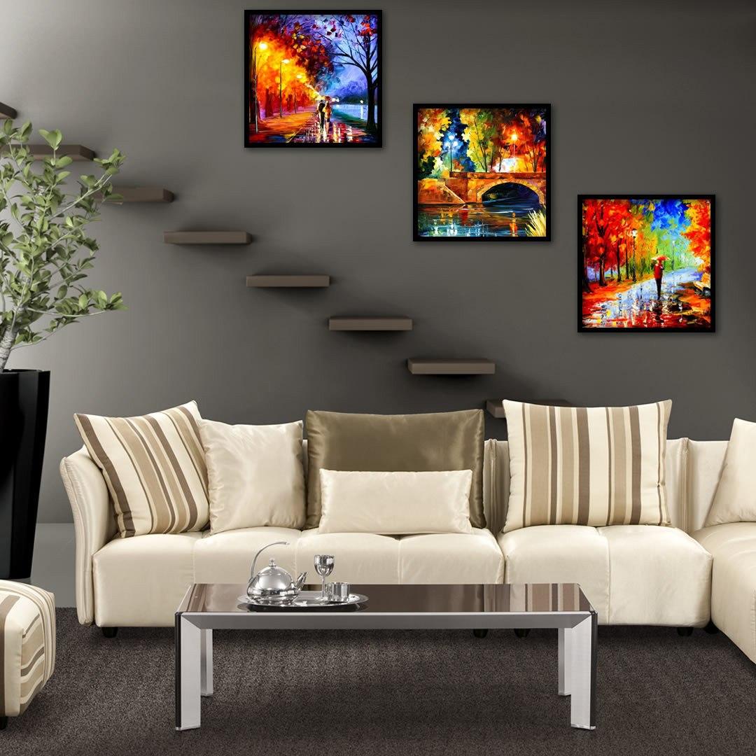 Quadros abstratos para decoração