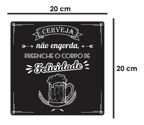 quadro decorativo acrílico bebidas cerveja felicidade