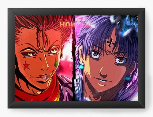 quadro decorativo anime serie mangá hunter x hunter qua14267