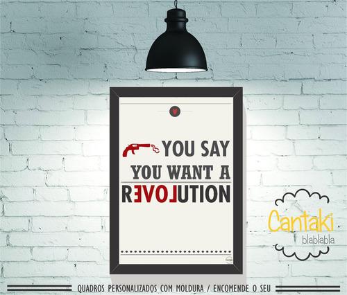 quadro decorativo beatles revolution- cantaki