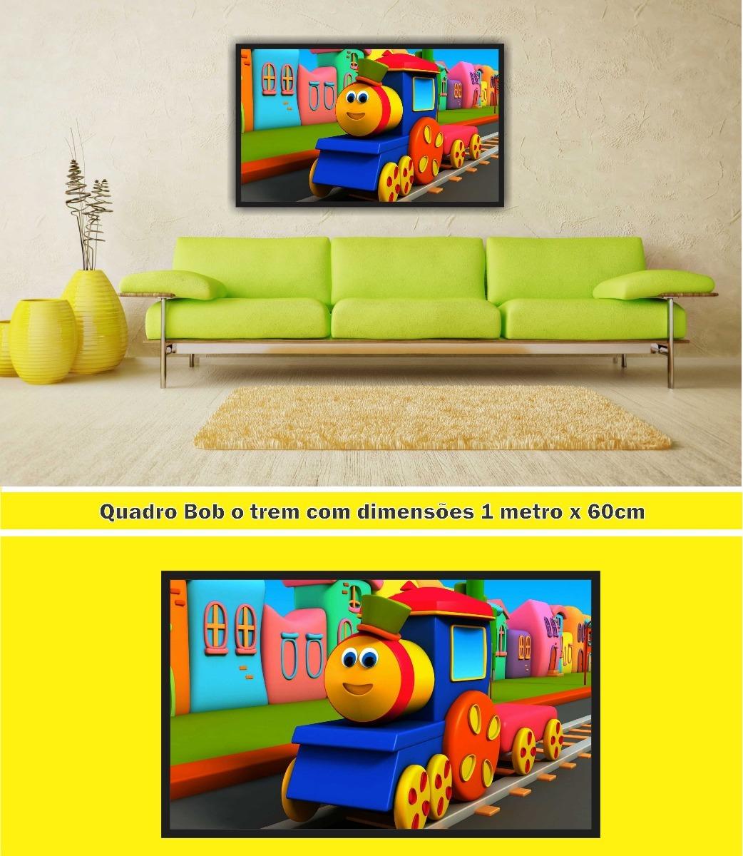 Quadro Decorativo Bob O Trem Desenho Infantil R 289 90 Em