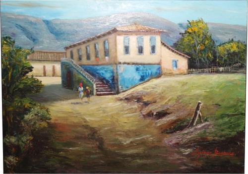 quadro decorativo- casario sul de minas