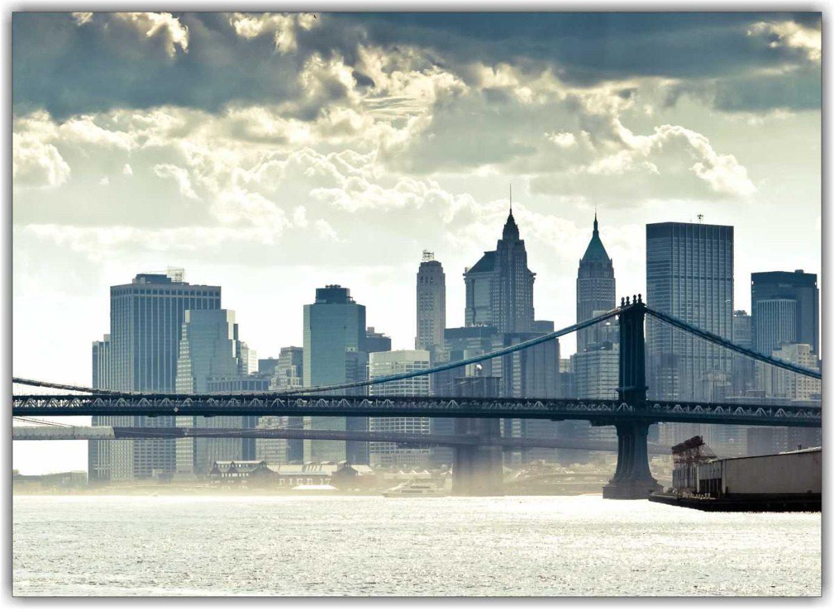 Quadro decorativo cidade new york manhattan panorama r