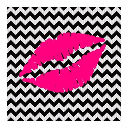 quadro decorativo closet batom pink
