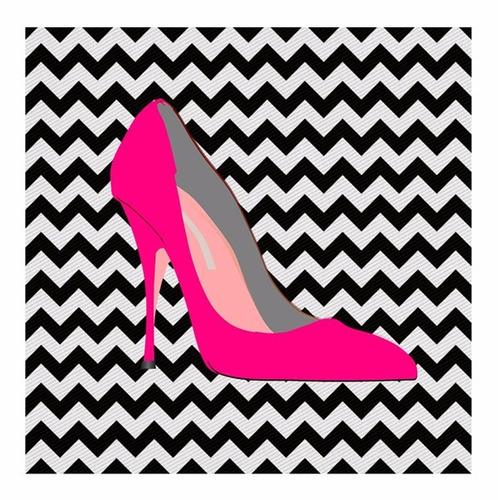 quadro decorativo closet scarpin pink