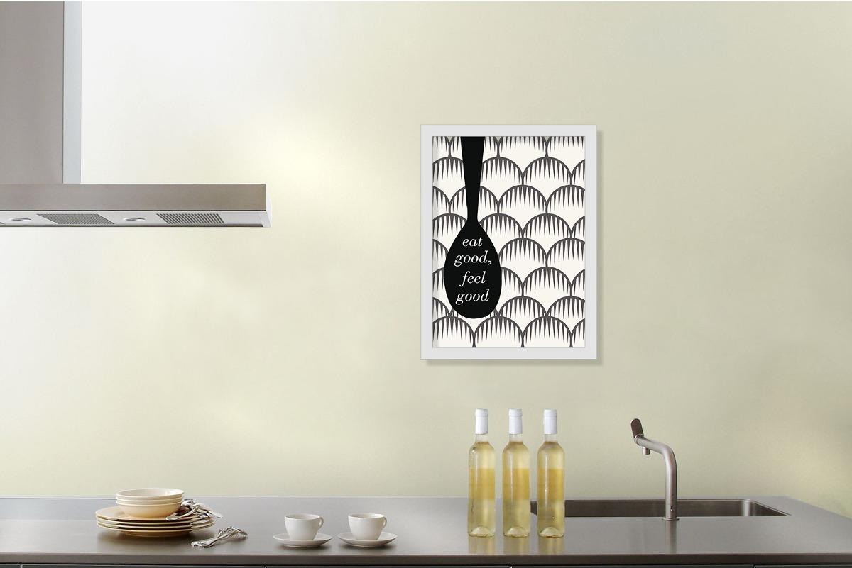 Quadro Decorativo Cozinha Gourmet Coma Bem 40x55cm R 129 49 Em