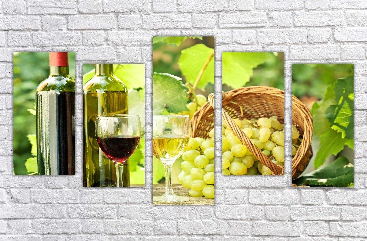 Quadro Decorativo Cozinha Gourmet Sala Vinho Wine Com 5 03 R 261