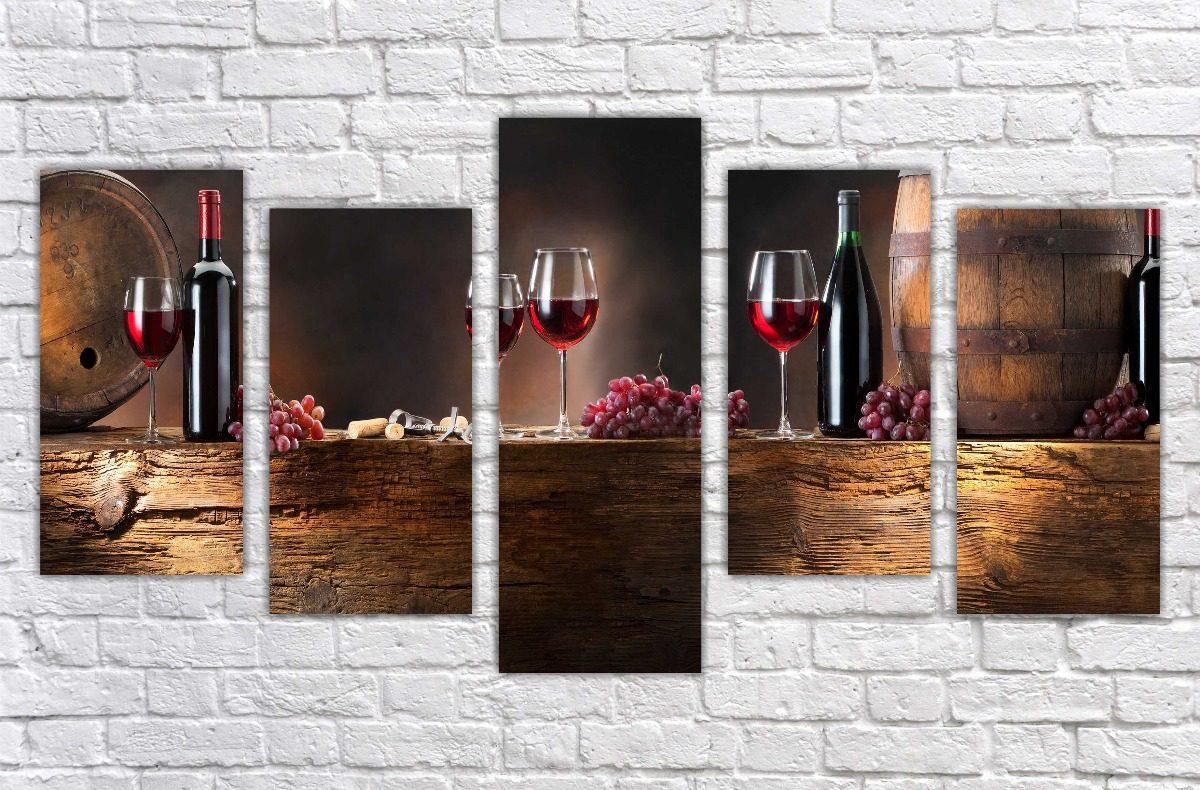 Quadro Decorativo Cozinha Gourmet Sala Vinho Wine Com 5 08 R 261
