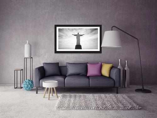 quadro decorativo cristo redentor rio de janeiro - 100x60cm