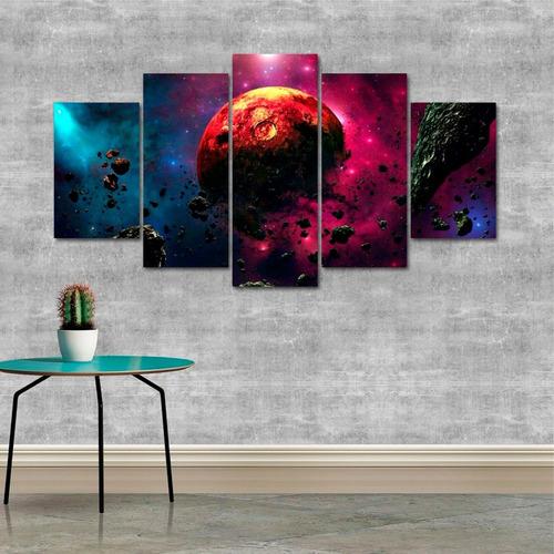 quadro decorativo decoração espaço universo planeta mdf