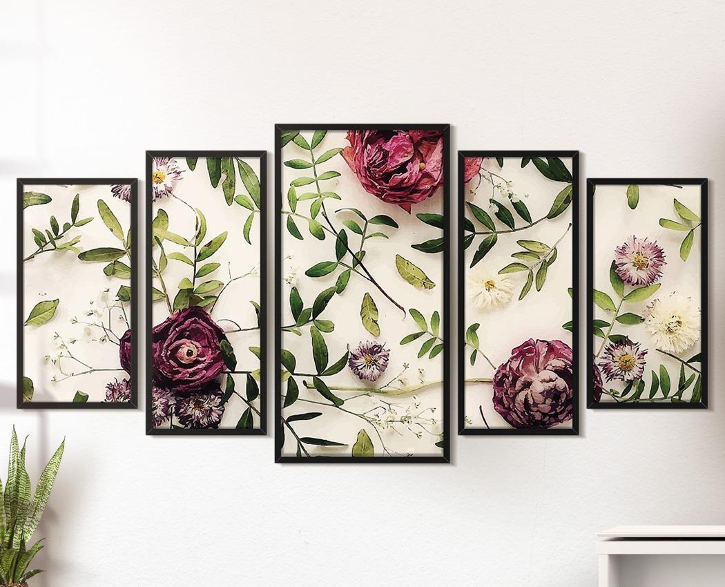 f7023ced1 quadro decorativo floral moldura sala quarto mesa das flores. Carregando  zoom.