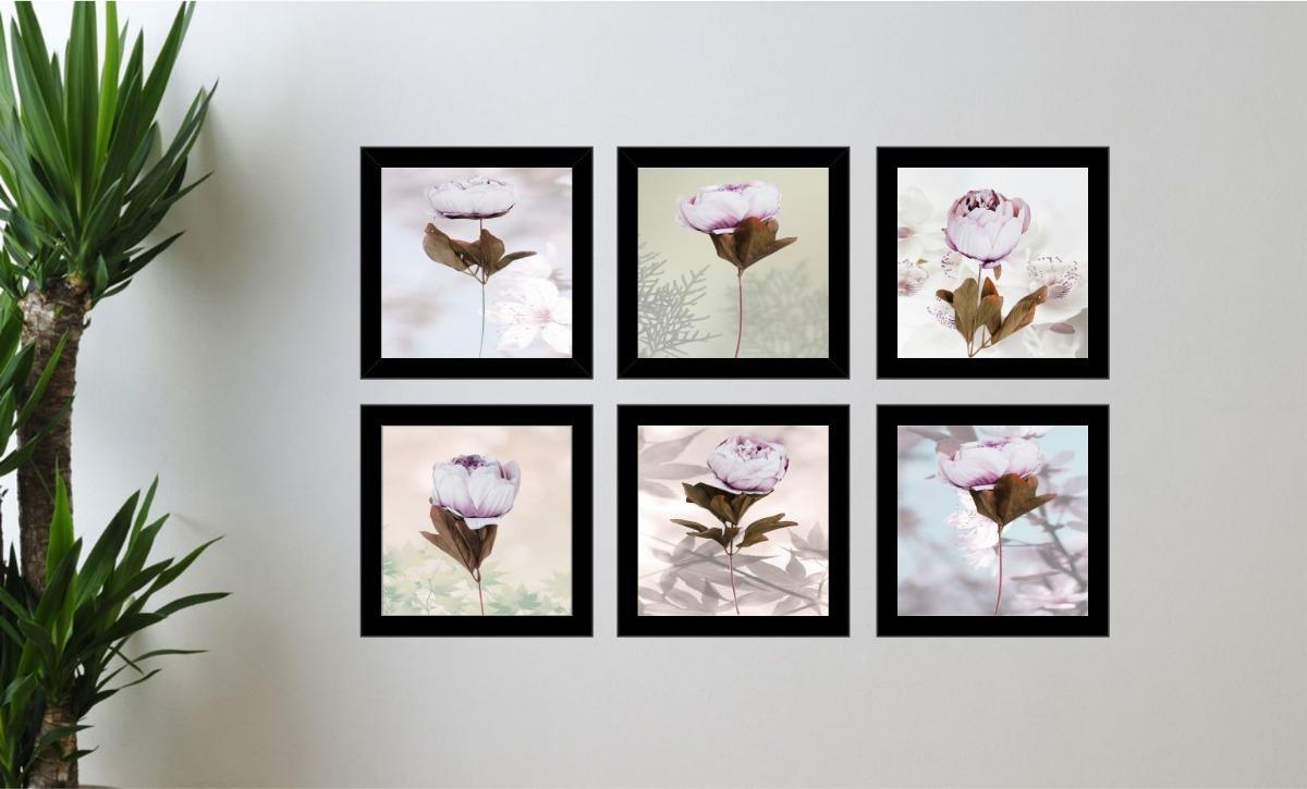 76f4cf489 Quadro Decorativo Flores Interior Quarto E Sala Promoção - R  120