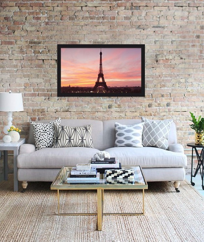 quadro decorativo frança paris torre eiffel - 100x60cm