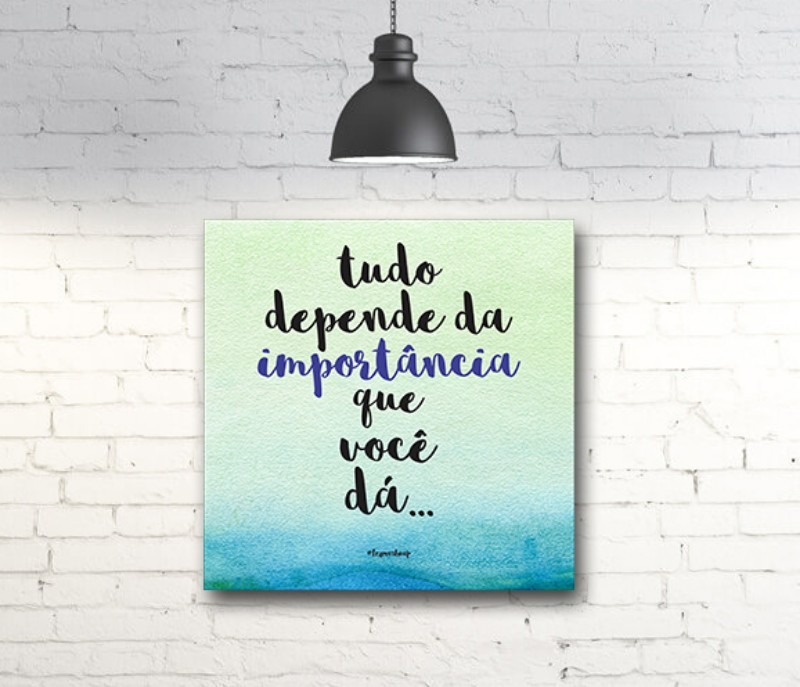 Quadro Decorativo Frase Motivação Inspiação Reflexão A52 R 8390