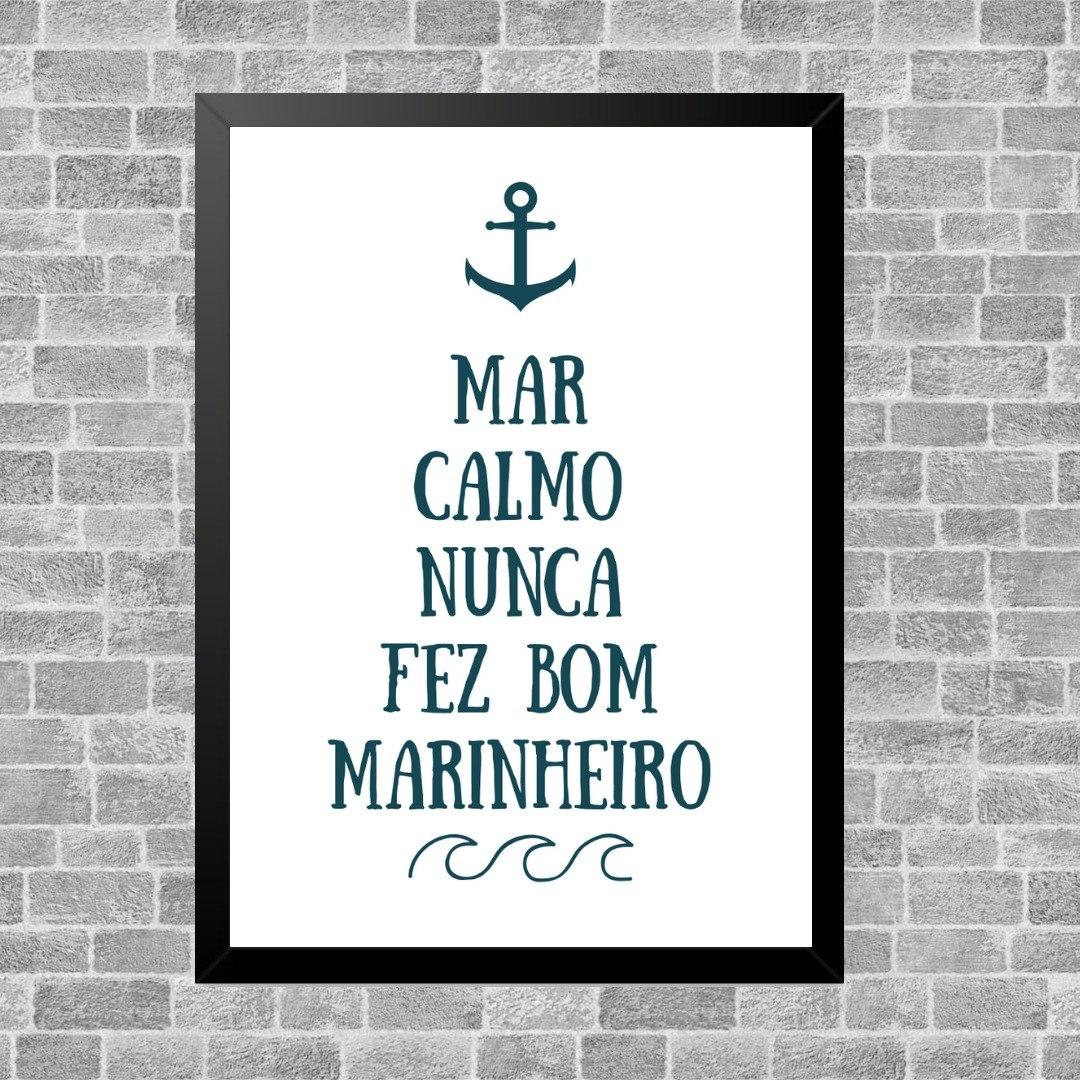 Quadro Decorativo Frase Mar Calmo R 4490 Em Mercado Livre
