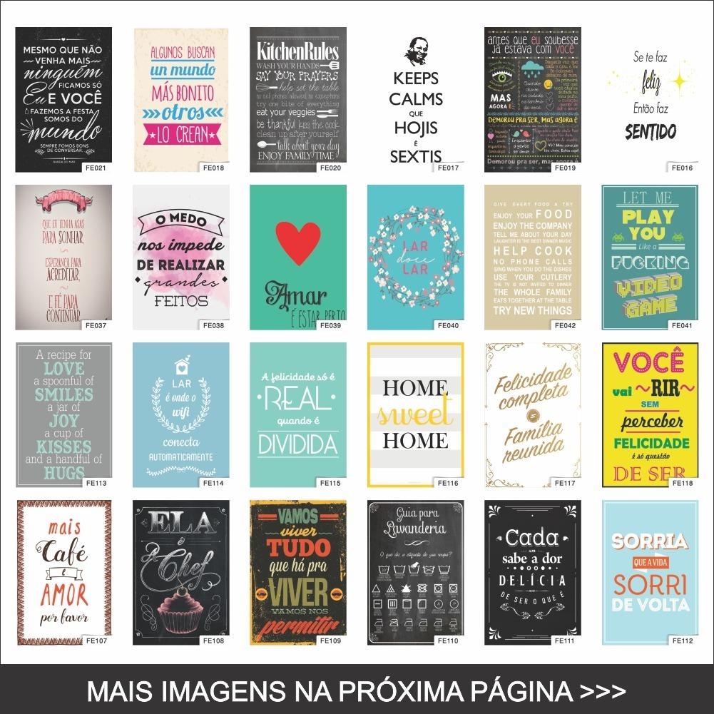 Quadro Decorativo Frases Cômicas Motivacionais 44x64 Moldura