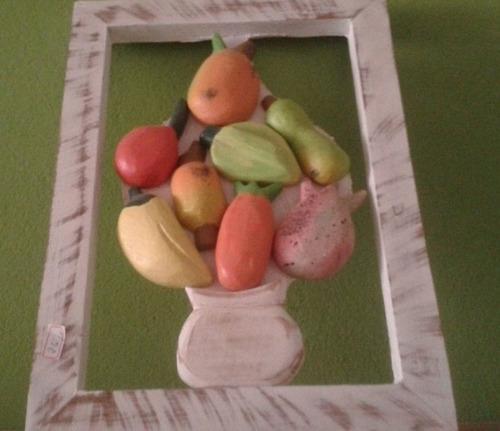 quadro decorativo frutas mistas