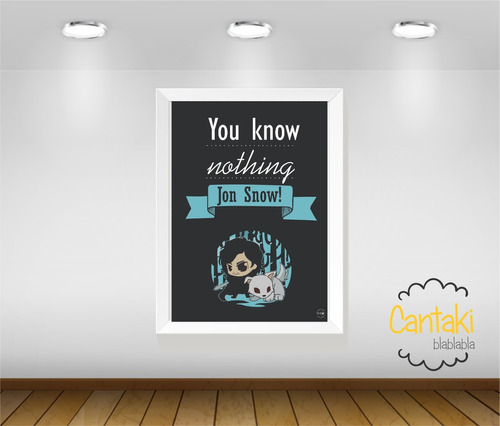 quadro decorativo jon snow game of throne - cantaki