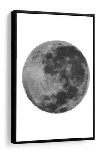 quadro decorativo lua cheia preto e branco decoração sala