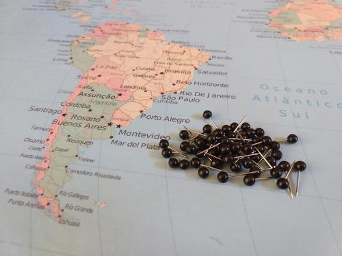 quadro decorativo mapa mundi pin pinar viagens com pinos