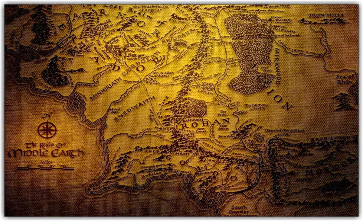 mapa senhor dos aneis Quadro Decorativo Mapa Senhor Dos Aneis Salas Sr   R$ 297,00 em  mapa senhor dos aneis