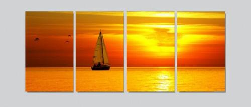 quadro decorativo mar barco a vela
